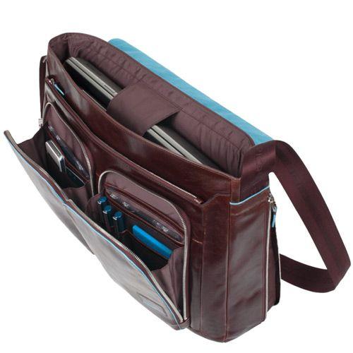 Сумка-портфель Piquadro для ноутбука с двумя отделениями Blue Square черный, фото