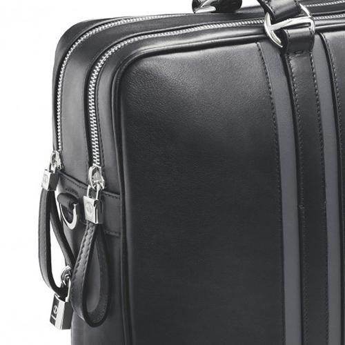 Сумка-портфель Davidoff с серыми вставками, фото