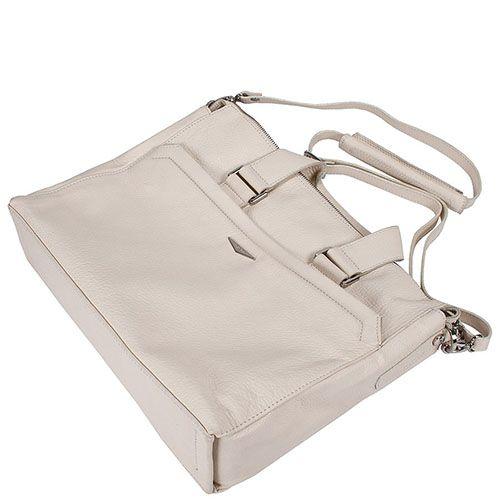 Большая мужская сумка Giudi Leather с отделом для ноутбука из бежевой кожи, фото