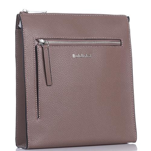 Мужская сумка Baldinini Brian из зернистой кожи серого цвета, фото