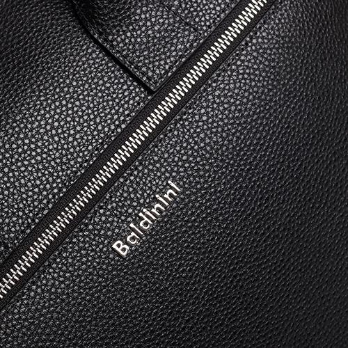 Сумка прямоугольной формы Baldinini Brian из черной зернистой кожи, фото