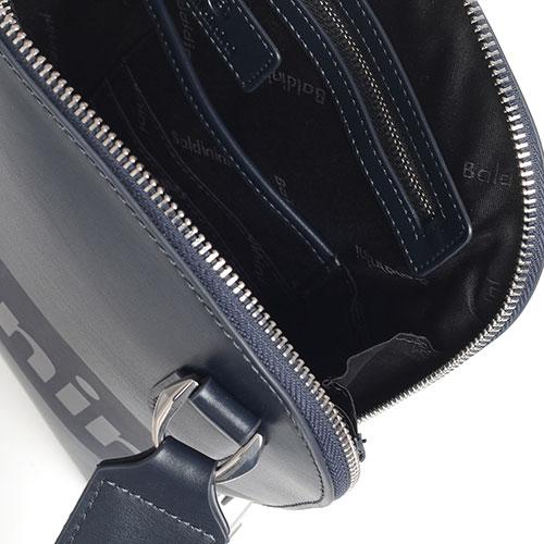 Синяя сумка Baldinini Kevin с фирменным принтом, фото
