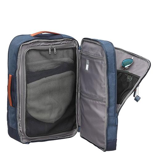 Синий рюкзак-чемодан Hedgren Escapade прямоугольной формы, фото