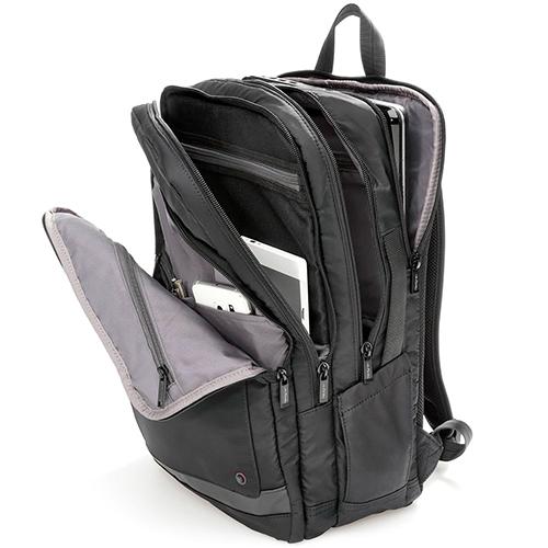 Черный рюкзак Hedgren Zeppelin Revised прямоугольной формы, фото