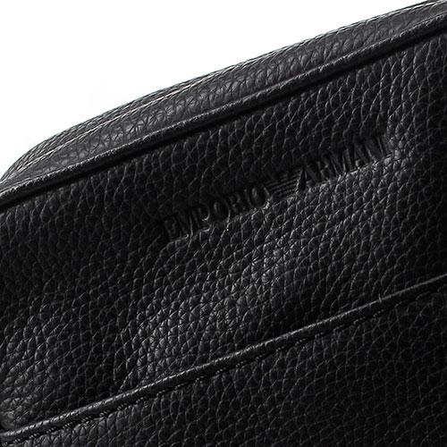 Сумка Emporio Armani черного цвета квадратной формы, фото
