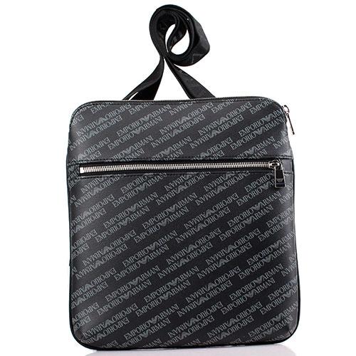 Мужская сумка Emporio Armani с брендовыми надписями, фото