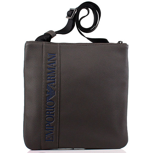 Серая мужская сумка Emporio Armani, фото
