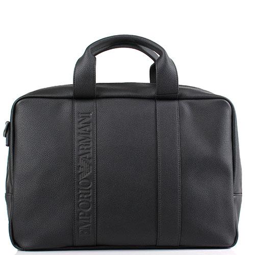 Портфель Emporio Armani черного цвета, фото