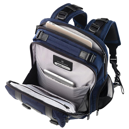 Синий рюкзак Victorinox Architecture Urban Corbusier из текстиля, фото