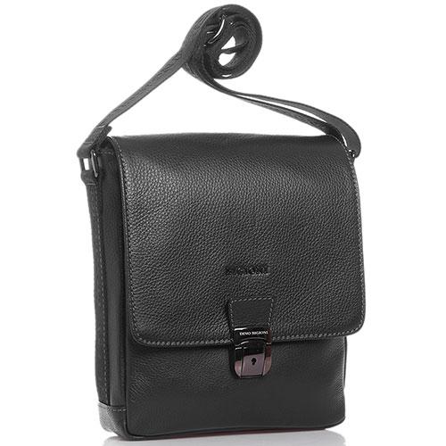 Черная сумка Dino Bigioni с замком на застежке, фото