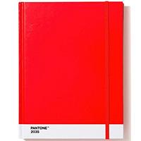 Блокнот Pantone Large Red 2035 в твердой обложке, фото