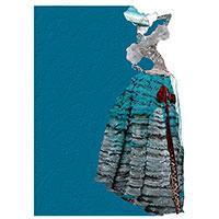 Синий блокнот Christian Lacroix Madone Byzantine формата А5, фото