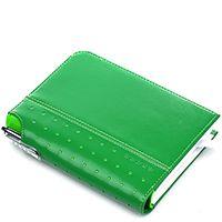Блокнот малый Cross Signature зеленого цвета в комплекте с ручкой Cross, фото