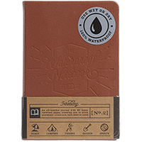 Непромокаемый блокнот Luckies коричневого цвета, фото