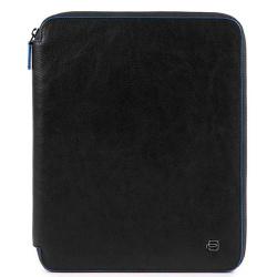 Папка Piquadro B2S в коже на молнии черного цвета, фото