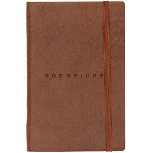 Записная книжка с линейкой The Bridge Story Uomo кожаная коричневая, фото