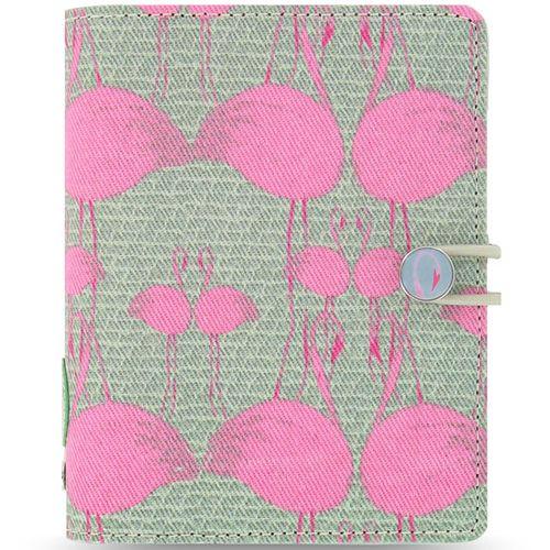 Персональный органайзер Filofax Pocket Cover Story с фламинго на серо-зеленом холсте, фото