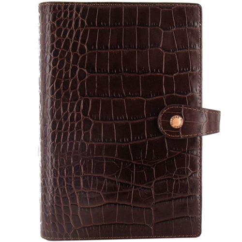 Органайзер Filofax Personal Osterley кожаный коричневый под крокодила, фото