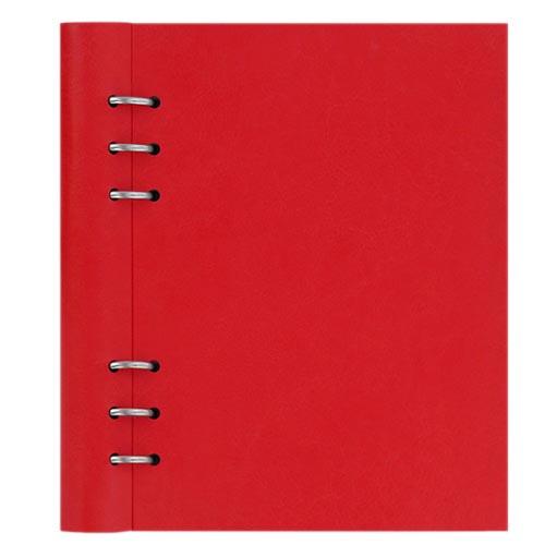 Красный кожаный органайзер Filofax ClipBook A5 Classic с набором бланков, фото