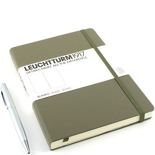 Средняя серо-коричневая записная книжка Leuchtturm1917 без разметки, фото
