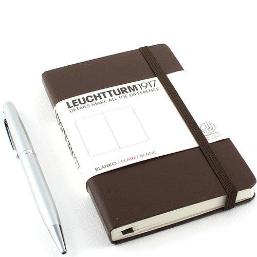 Карманная записная книжка Leuchtturm1917 коричневого цвета без разметки, фото