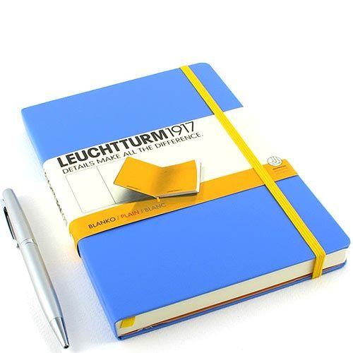 Средняя записная книжка Leuchtturm1917 Би-колор василькового и ярко-желтого цвета без разметки, фото