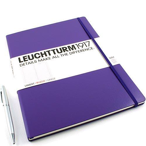 Большая записная книжка Leuchtturm1917 Мастер А-4 Слим лавандового цвета без разметки, фото