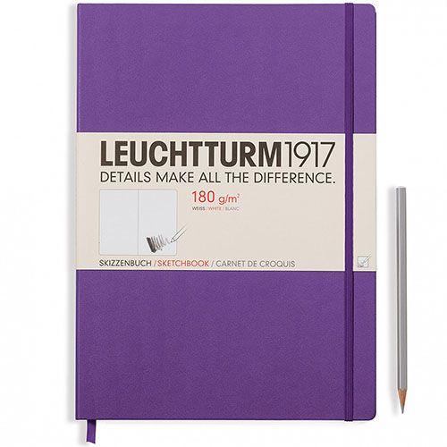 Скетч-бук в твердом переплете Leuchtturm1917 фиолетового цвета, фото
