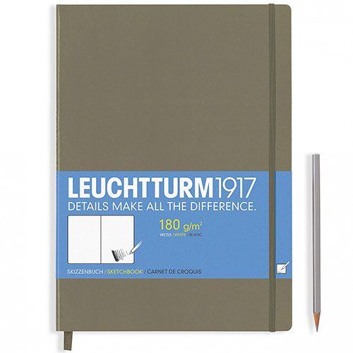 Большой серо-коричневый скетч-бук Leuchtturm1917 формата А4, фото