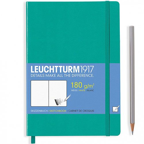 Скетч-бук формата А5 Leuchtturm1917 в зеленой обложке, фото