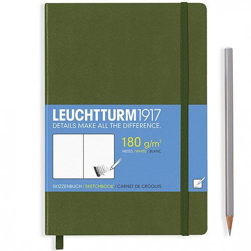 Зеленый блокнот для эскизов Leuchtturm1917  формата А4, фото