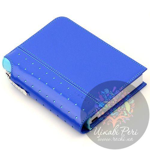 Блокнот Signature малый синий с ручкой, фото