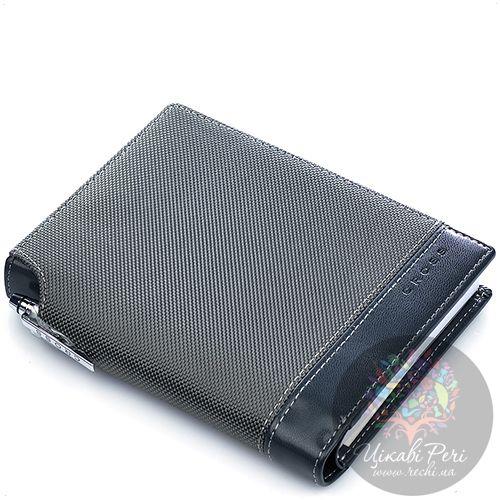 Блокнот Cross Textured малый серый текстильный с ручкой, фото