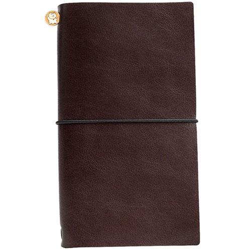 Записная книжка Manekibook из кожи коричневого цвета, фото