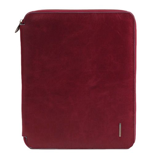 Блокнот-папка Piquadro на молнии Blue Square красная, фото