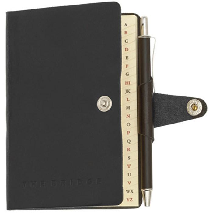 Адресная книга The Bridge Story Uomo с ручкой в комплекте