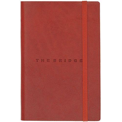 Записная книжка The Bridge Story Uomo кожаная красная