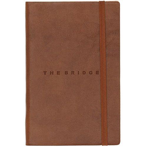 Записная книжка с линейкой The Bridge Story Uomo кожаная коричневая