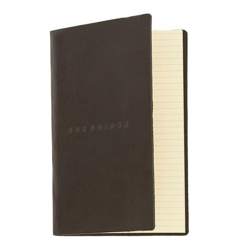 Записная книжка The Bridge Story Uomo кожаная черная