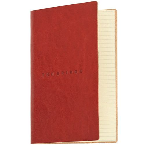 Записная книжка недатированная The Bridge Story Uomo кожаная красная
