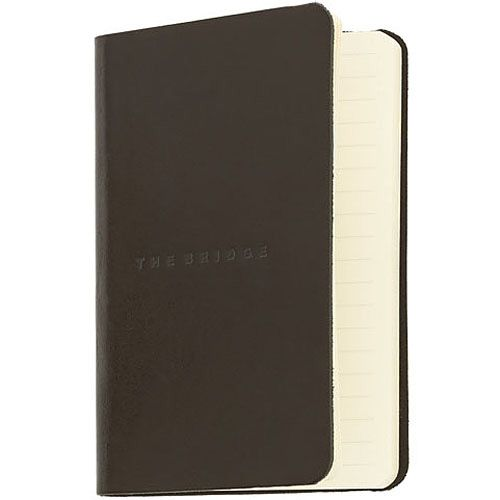 Записная книжка с линейкой The Bridge Story Uomo кожаная черная