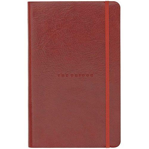 Записная книжка с линейкой The Bridge Story Uomo кожаная красная
