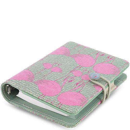 Персональный органайзер Filofax Pocket Cover Story с фламинго на серо-зеленом холсте
