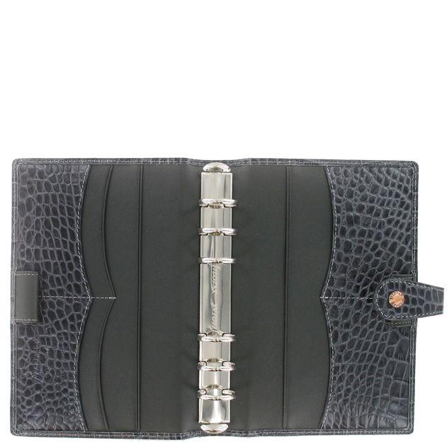 Органайзер Filofax Personal Osterley кожаный серый под крокодила