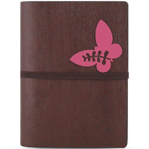 Компактный органайзер Filofax Pocket Woodlands с фактурой дерева и бабочкой