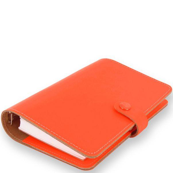 Органайзер Filofax Personal The Original кожаный флуоресцентного яркого оранжевого цвета