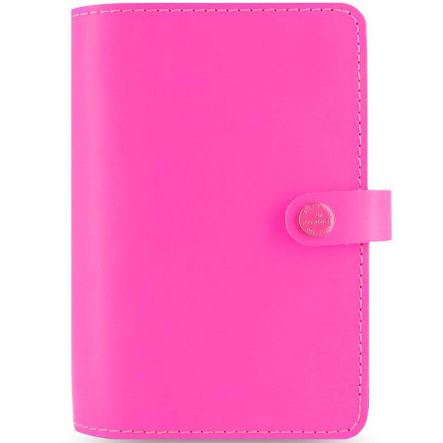 Органайзер Filofax Personal The Original кожаный флуоресцентного яркого розового цвета