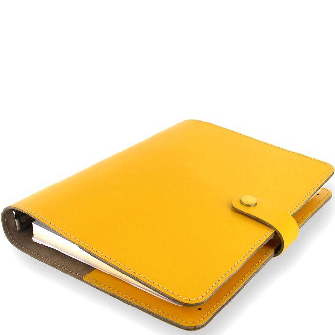Профессиональный органайзер Filofax А5 The Original из гладкой желтой кожи