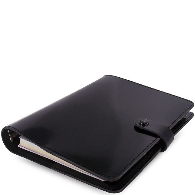 Профессиональный органайзер Filofax А5 The Original кожаный черный лаковый