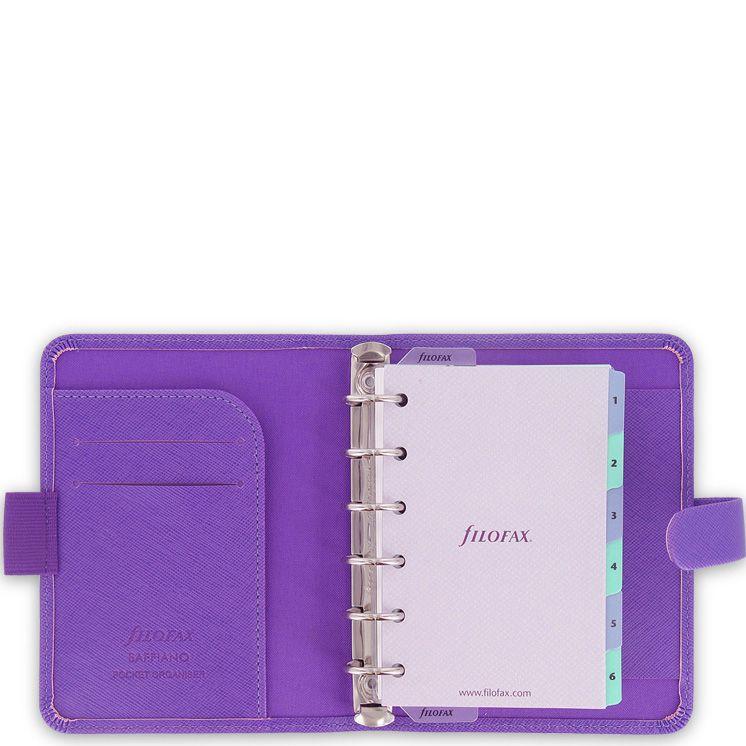 Карманный органайзер Filofax Pocket Saffiano фиолетовый яркий